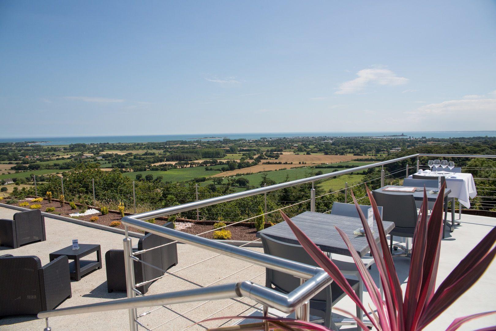 Vue Panoramique depuis notre restaurant proche de Barfleur
