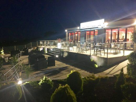 La terrasse de notre restaurant du Cotentin