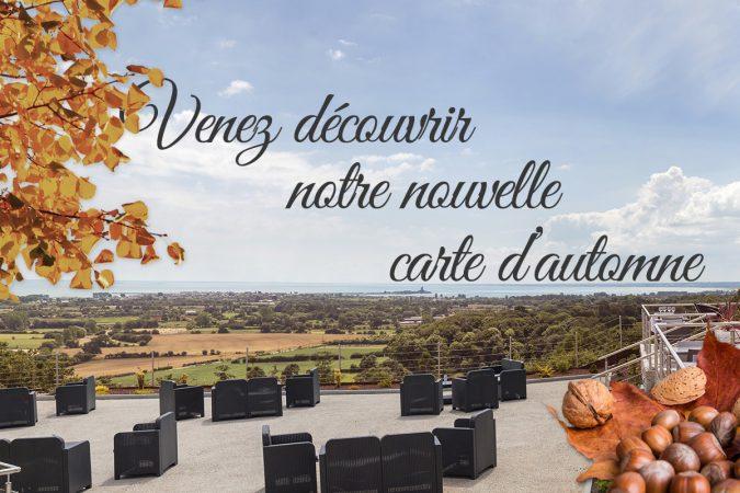 La nouvelle Carte d'automne de notre Restaurant en Normandie